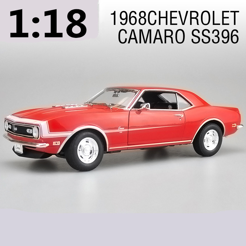 High simulation high quality models,1:18 scale alloy 1968 CHevrolet Camaro SS396,Collection car model,free shipping premiumx 1 43 yuan bao 1968 volvo 164 rich 164 alloy models prd247