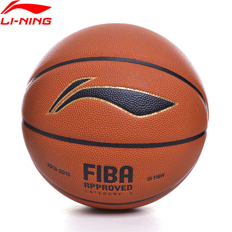 Li-Ning FIBA Game Basketball Size7 Professional PU Material Inflatable Outdoor Indoor LiNing Sports Balls ABQP002 ZYF341