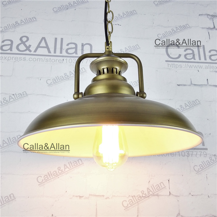 все цены на Antique brass Vintage Pendant Light Loft Pendant Lamp Retro Hanging Lamp Lampshade For Restaurant /Bar/Coffee Shop Home Lighting