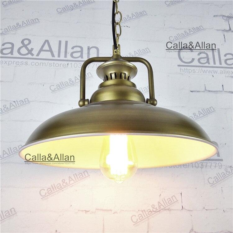 Antique brass Vintage Pendant Light Loft Pendant Lamp Retro Hanging Lamp Lampshade For Restaurant /Bar/Coffee Shop Home Lighting