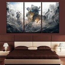 купить Modular Pictures Wall Art Game Poster Home Decorative Framework Or Frameless One Set 3 Pieces Titanfall Painting Canvas Print дешево