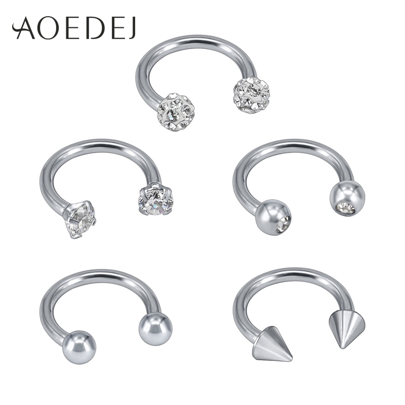 18G 20G Nose Rings Hoop Fake Nose Studs Cartilage Tragus Daith Septum Ear Cuff Helix Nipple Eyebrow Captive Ring Body Piercing PiercingJ 12pcs Mixed Stainless Steel 16G