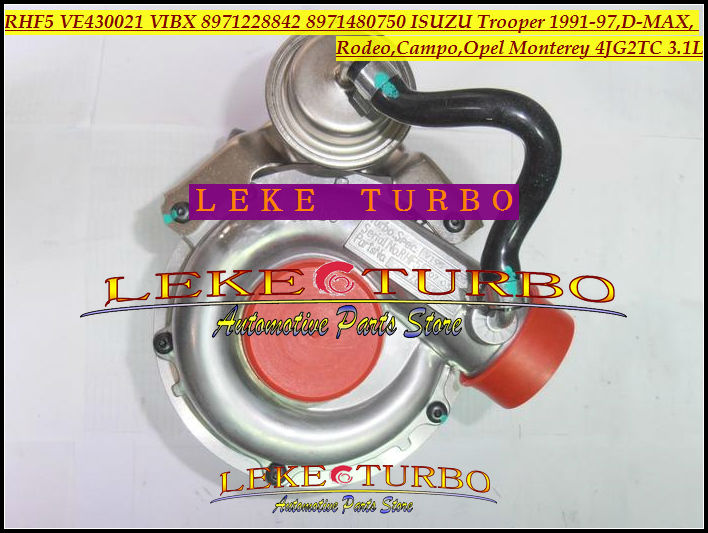 Turbo RHF5 VE430021 VIBX 8971228842 8971480750 Turbocharger For ISUZU Trooper D-MAX Campo For OPEL Monterey 4JG2 4JG2TC 3.1L free ship turbo rhf5 8973737771 897373 7771 turbo turbine turbocharger for isuzu d max d max h warner 4ja1t 4ja1 t 4ja1 t engine page 9