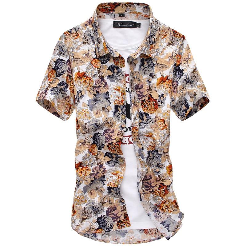 2018 nyáron új divatok Kiváló minőségű férfiak floral ingek - Férfi ruházat