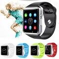 A1 2016 hombres mujeres reloj bluetooth smart watch android podómetro deporte con ranura sim cámara smartwatch para android