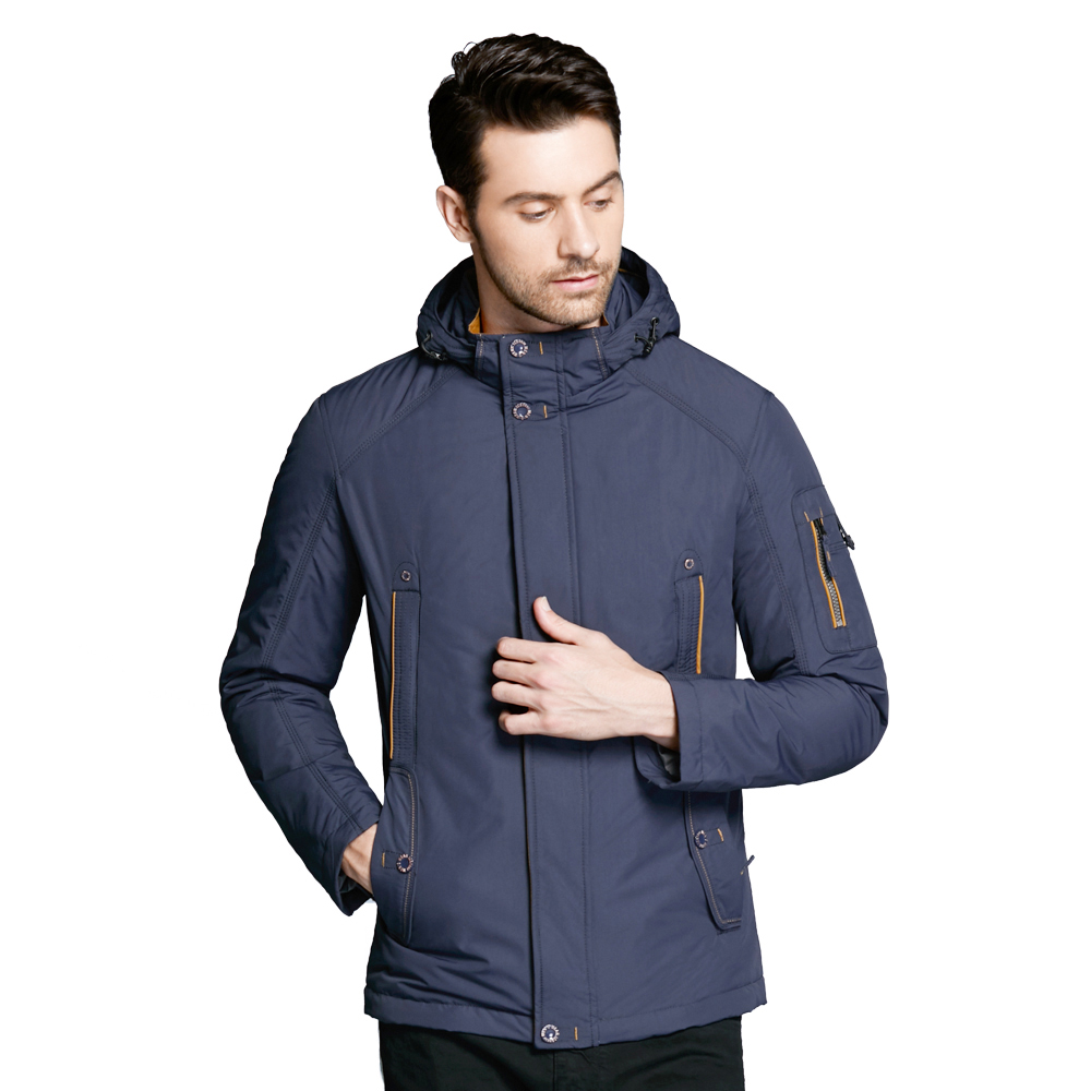 ICEbear 2018 Thin Autumn Jacket Men Coats Bilateral Oblique Pockets Simple And Handsome Inner Windproof Drawstring 17MC853D contrast drawstring hooded zip up jacket