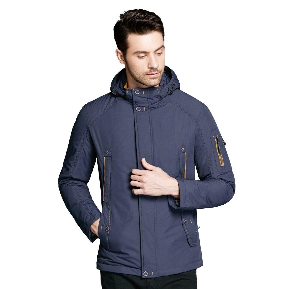 ICEbear 2019 Thin Autumn Jacket Men Coats Bilateral Oblique Pockets Simple And Handsome Inner Windproof Drawstring 17MC853D icebear 2018 trench coat for men adjustable waist hat detachable autumn men new casual medium long brand coats 17mc017d
