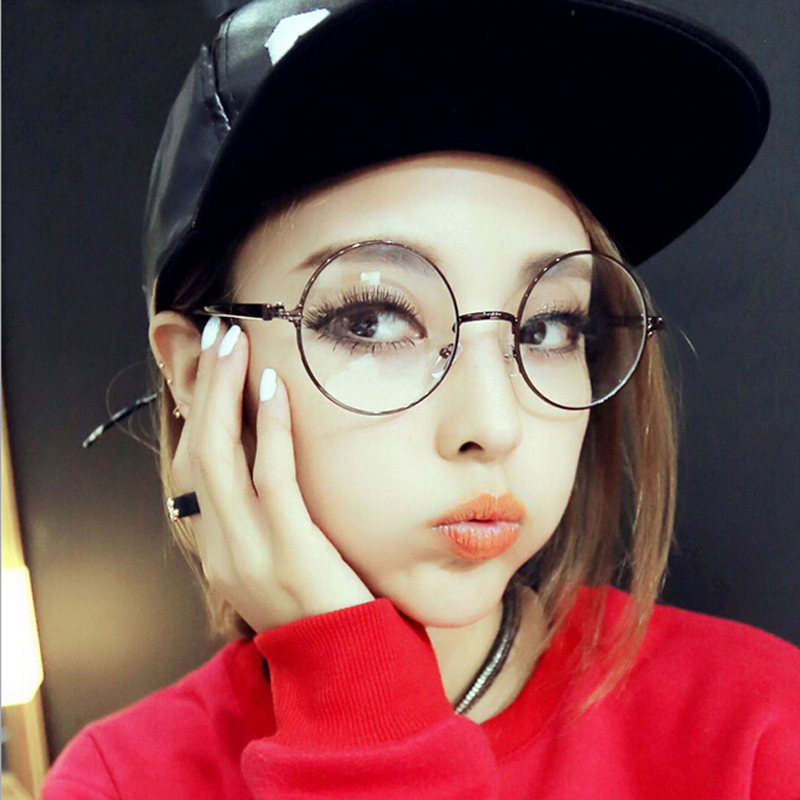 Very Vintage Round Oversized Metal Frame Glasses Can Put Degree Myopia  YP58