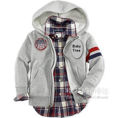 4 - 12 anos marca crianças casaco com capuz 100% algodão com zíper up camisola meninos outerwear primavera outono crianças crianças de vestuário sportswear