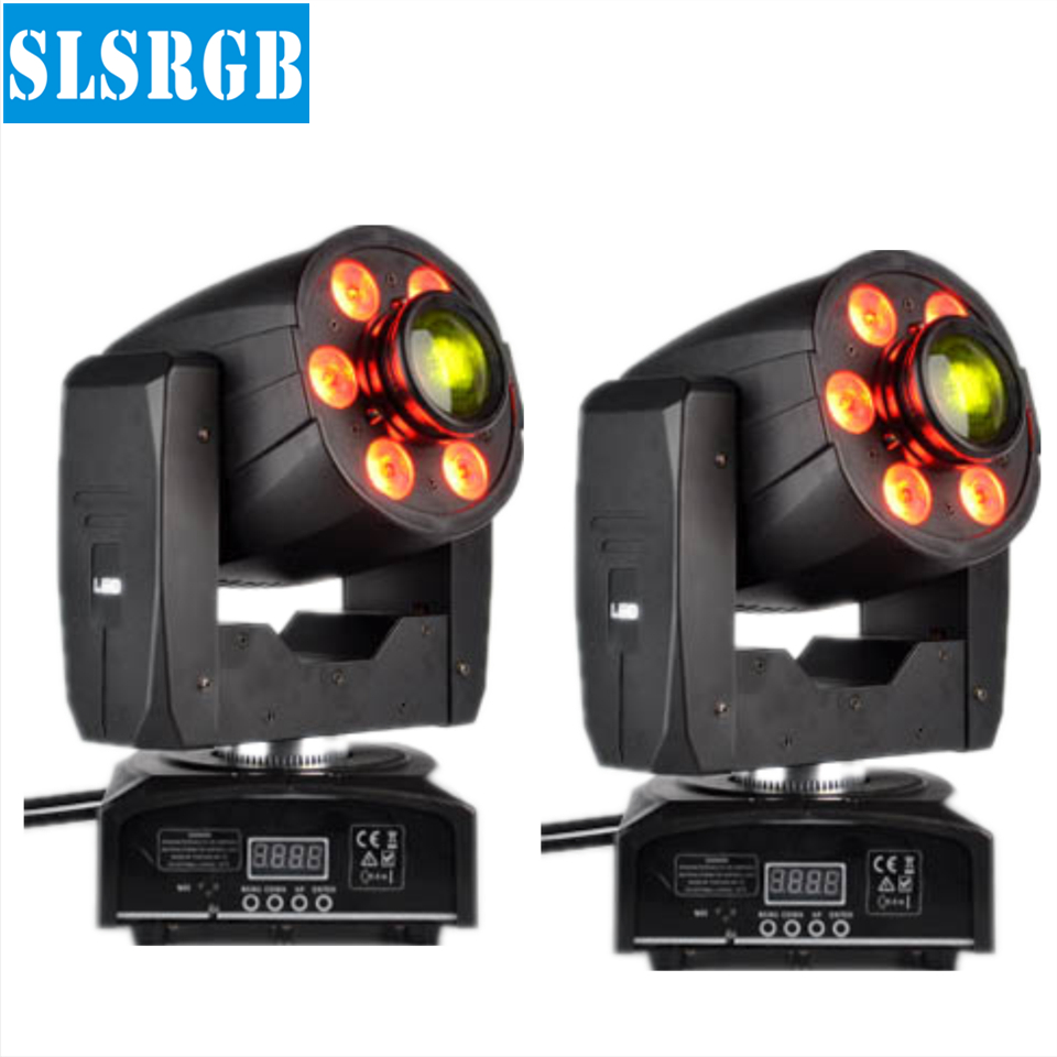 2pcs/lot 2in1 30W Spot 6pcs 4in1 8w RGBW Wash LED Moving Head Disco DJ Lighting 6*8W RGBW 4IN1 LEDs Wash+30W LED Moving Head