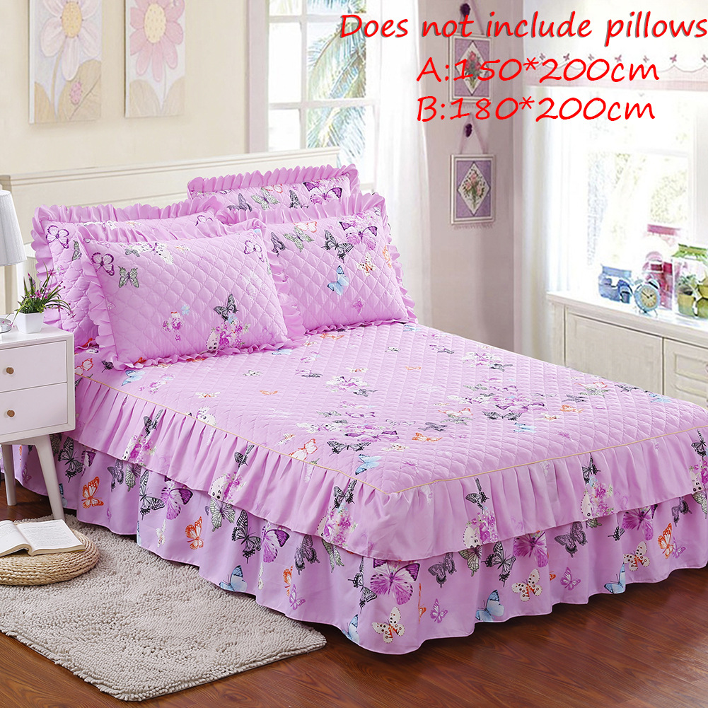 Funda Nordica Underground.Detail Feedback Questions About Bed Skirt Purple Butterflies