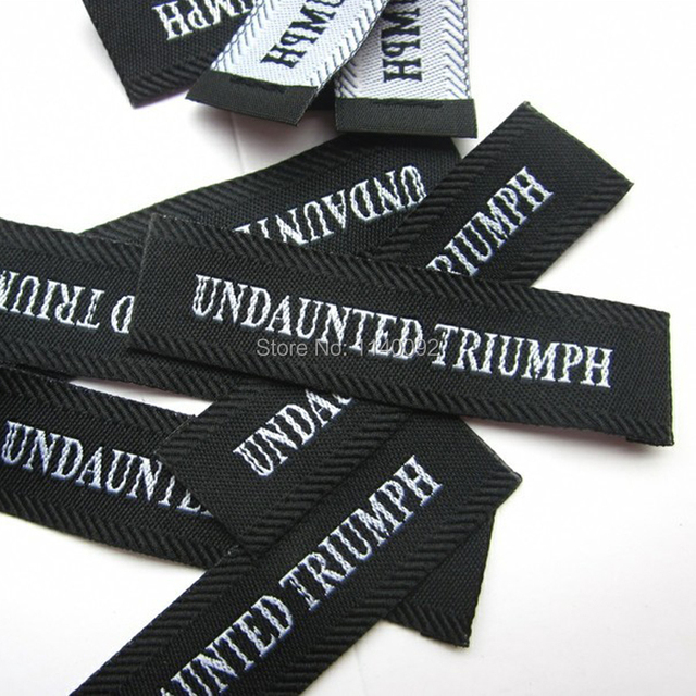 8501a212a Free Shipping Custom clothing woven labels with border/garment embroidered  tags/brand/T-shirt labels1000 pcs a lot