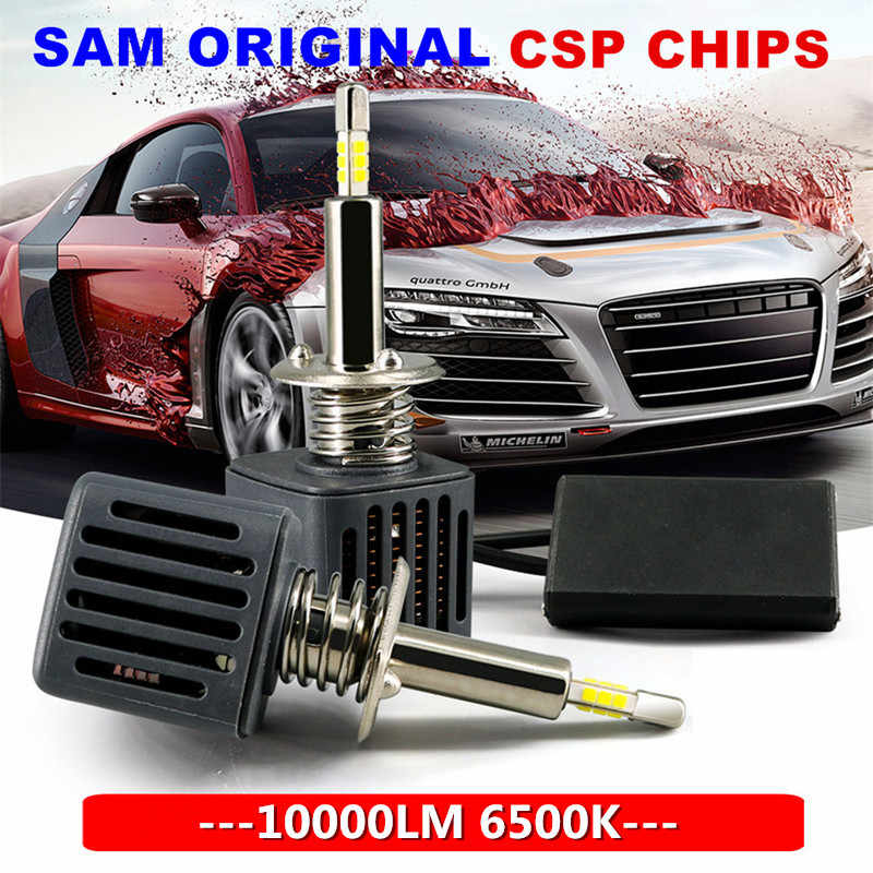 With SAMSUNG Chips H1 H7 LED Headlight Bulbs H11 H4 9005 9006 D1S D2S 10000LM 6500K Car Led Auto  Headlamp Headlights Fog Lights