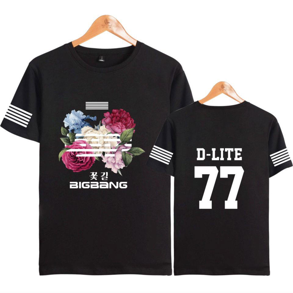 Women's Clothing Conscientious Luckyfridayf Kpop Korea Bigbang Flower Road Kpop Short Sleeve T-shirt Cotton Bigbang Fans Fashion Women Idol Tee Shirts Clothes