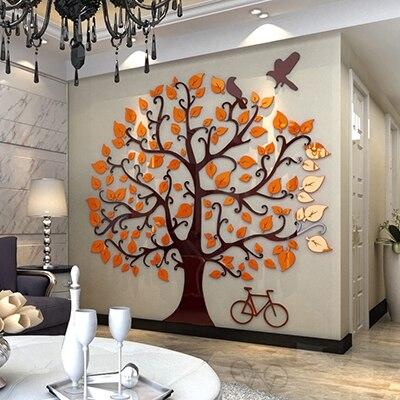 Современный Креативный 3D кованого железа золото Магнолия Ремесла Ресторан гостиная украшение стены домашний диван задний план настенные н... - 3