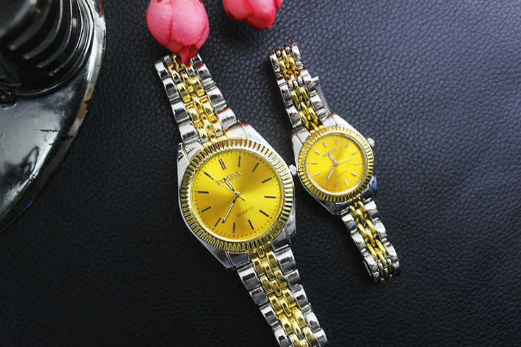 5025a231209 ... New Fashion Round ROSRA Dial Decoration Analog Wrist Watch with gold  strap for old man relojes