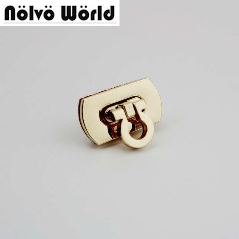 10sets 28*15mm Cute Lock Gold Color Metal Lock For Bags,fashion Handbag Metal Locks Accessories Wholesale Price