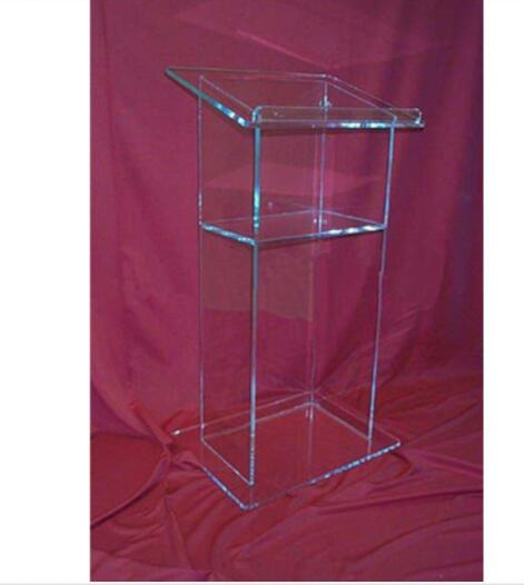 AAcrylic Lectern/Lucite Church Podium Transparent Pmma Pulpit Glass Pulpit Church Acrylic Podium