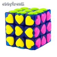 Love Puzzle Magic Cube 3x3x3 Colorful Cute Neo Cube Cubo Magico Puzzle Speed Classic Magic Toys