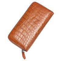 2018 Мода Крокодил шаблон портмона держатель для карт из натуральной кожи женщина длинные кошельки Для женщин аллигатора длинные клатч