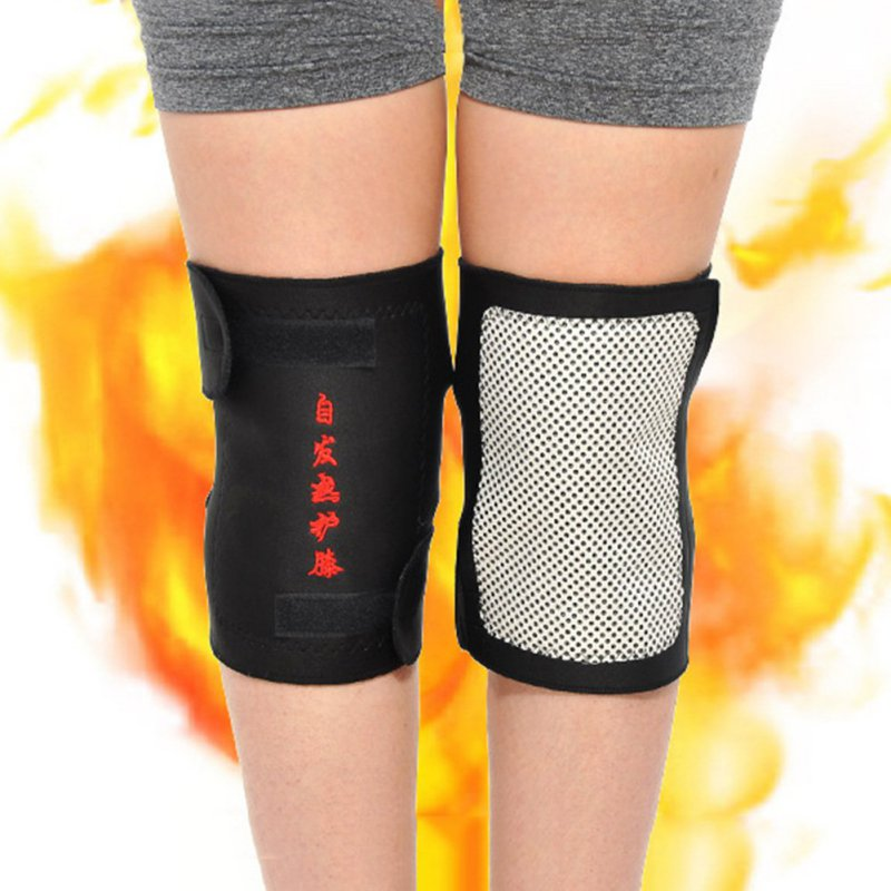 High Quality Health Care Tourmaline Self-Heating Knee Pads Far Infrared Magnetic Therapy Spontaneous Heating Pad 2 Pcs/lot