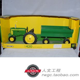 Deere KNL HOBBY J-KNL HOBBY J Deere 420 tractor trailers, farm automobile mannequin toy security act ERTL 1:16