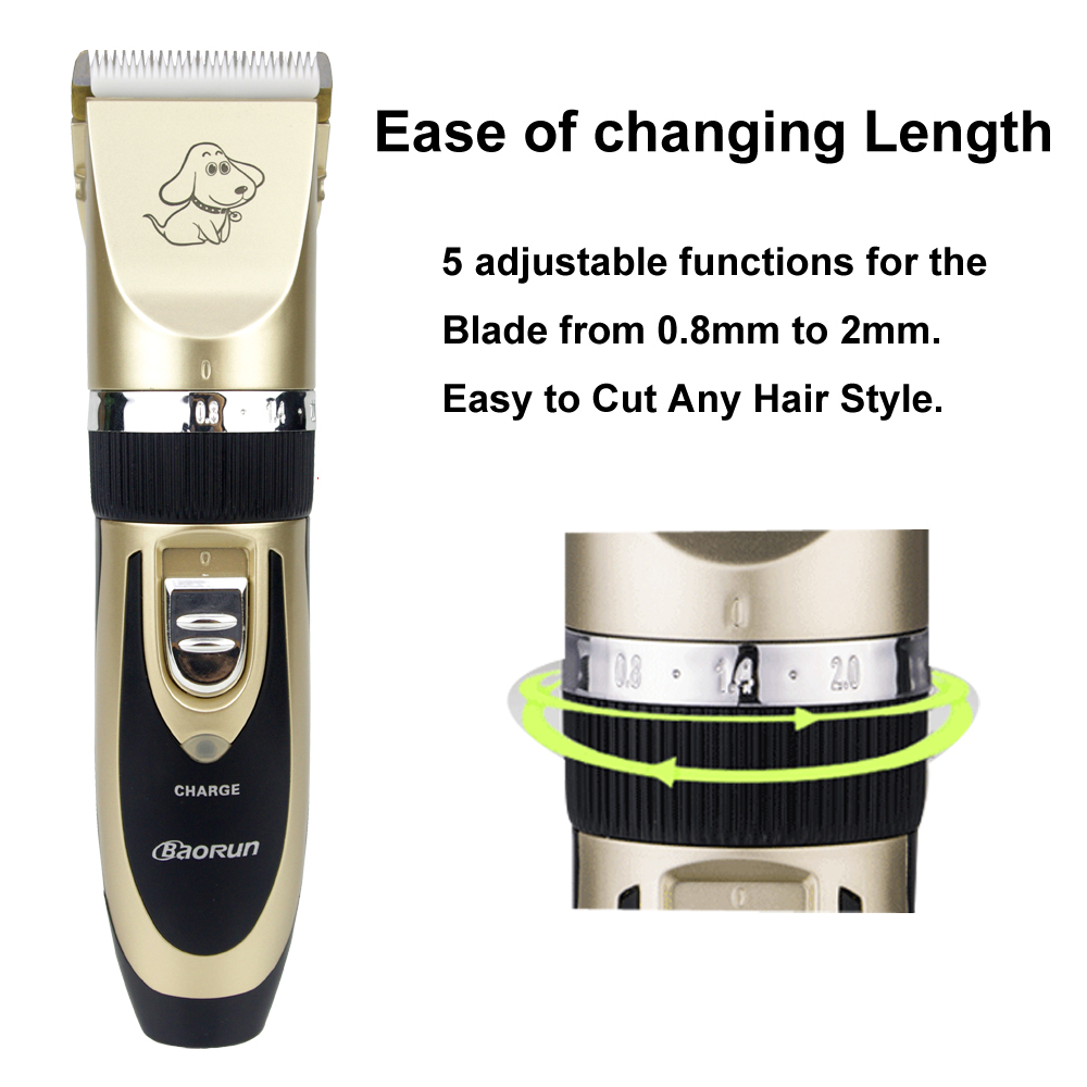 2019 Professional Grooming Kit Rechargeable Pet Cat Dog Hair Trimmer High Quality Electrical Clipper Shaver Set Haircut Machine