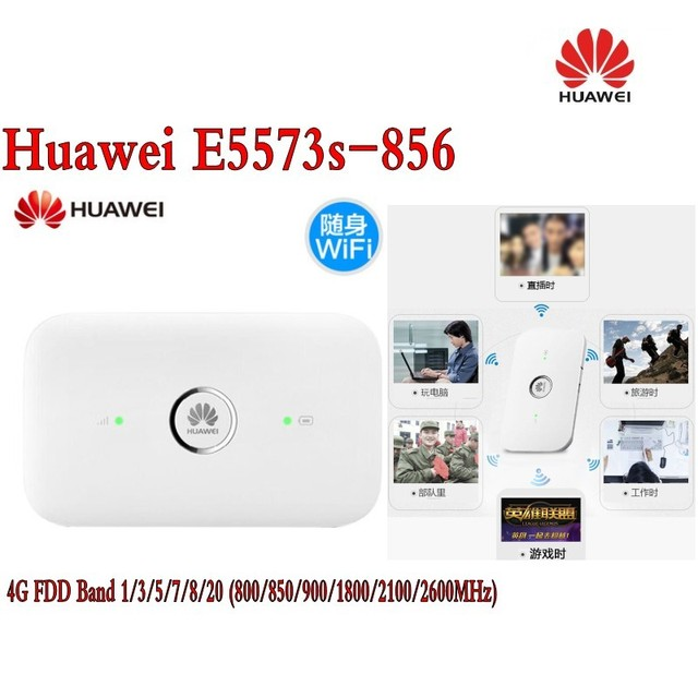 US $61 2 10% OFF|unlocked huawei e5573s 856 4g router LTE download speed up  to 150M-in Modem-Router Combos from Computer & Office on Aliexpress com |