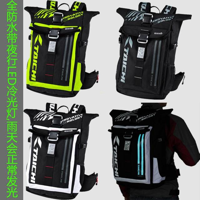 71648fda6d HOT RS-TAICHI RS272 waterproof motorcycle backpack outdoor travel backpack  led reflective motorcycle backpack