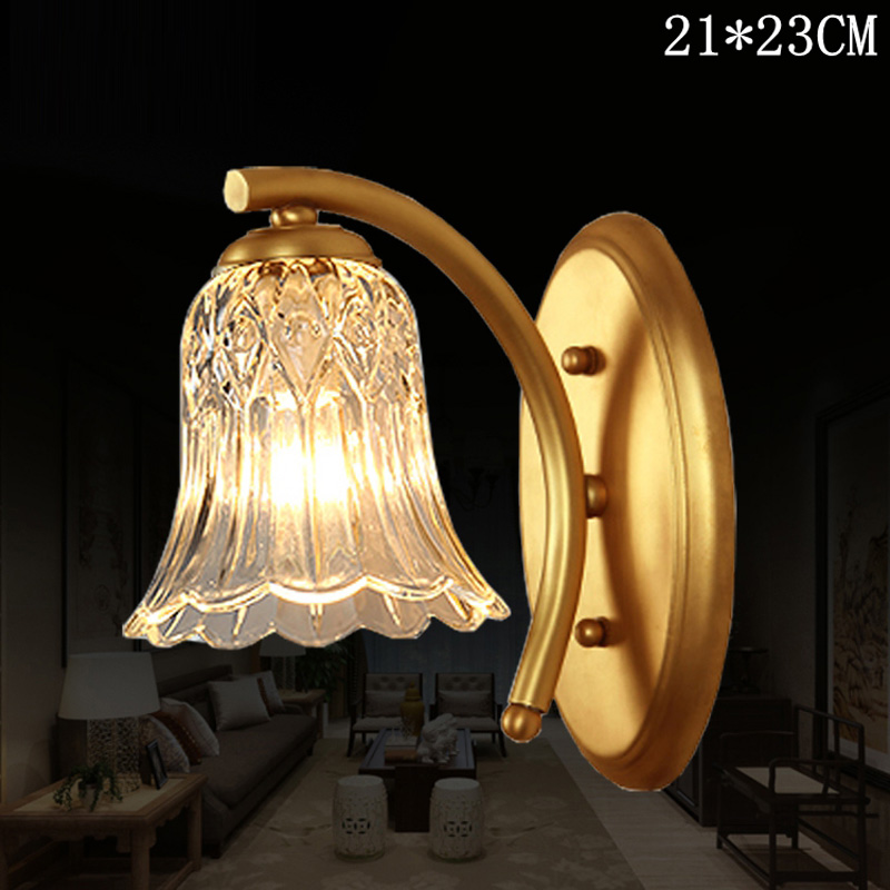 American Full Mirror Bathroom Bedroom Wall Lamp Led Bedside Headlight Single Lens Room Corridor Wall Light Vanity Mirror Lamps