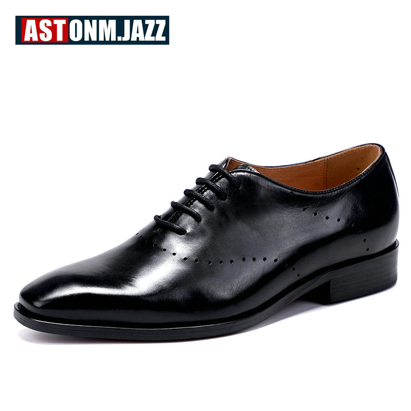 Men's Leather Casual Shoe Men Shoes Lace-up Breathable Men Shoes Luxury Brand Genuine Leather Oxford Shoes' For Men Plus Size breathable spring plus size 37 to 48 men flats shoes luxury fashion mens casual shoe high quality genuine leather shoes for man