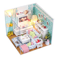 2015 Birthday Present Mini  Assembled Doll House Handmade Wooden DIY Dollhouse Miniature