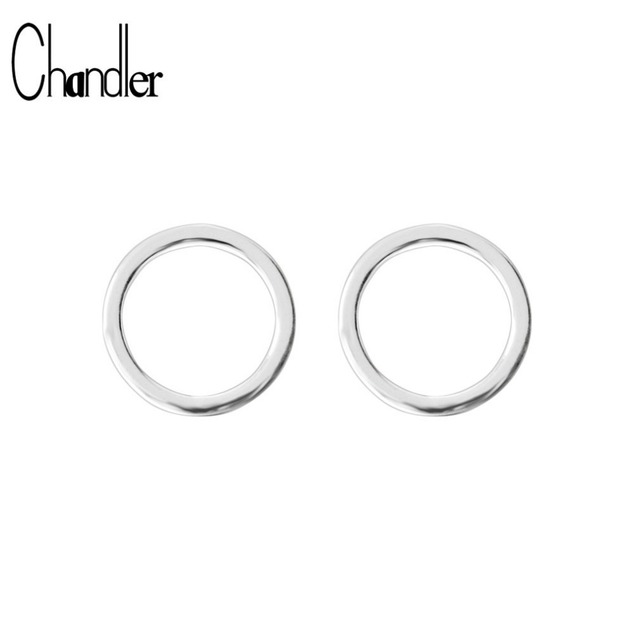 925 Sterling Silver Round Circle Stud Earrings For Women Geometrical Casual Simple Ear Jewelry Online Sentiment