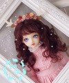 M7-bjd doll wig mohair red brown 8-9inch 7-8inch 6-7inch 4-5inch 3-4inch 1/3 1/4 1/6 1/8 1/12 SD MSD YOSD LATI PUKIFEE