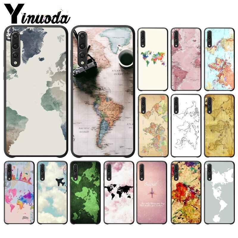 Yinuoda Travel in the world map Plane plans Protector Case for Huawei P9 P10 Plus Mate9 10 Mate10 Lite P20 Pro Honor10