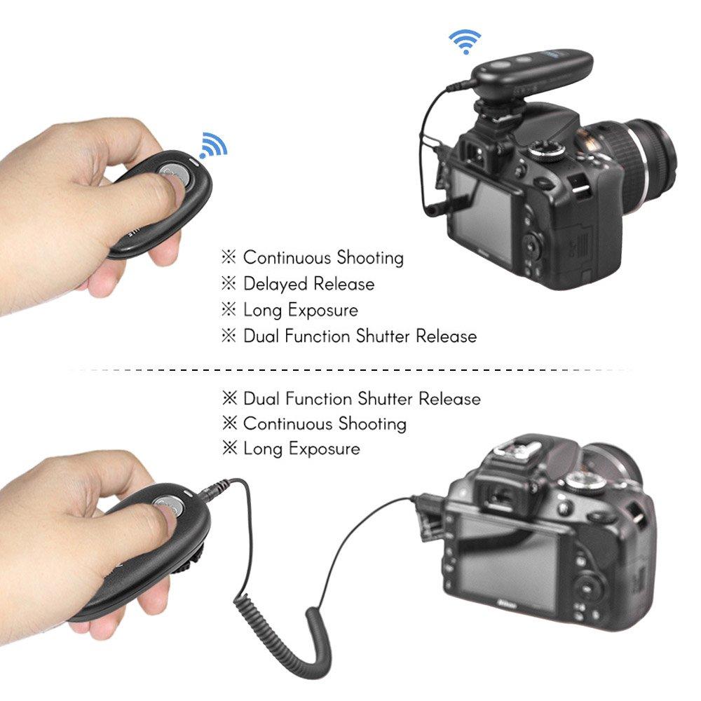 Déclencheur à distance AODELAN pour Canon EOS R, 80D, 77D, 70D, 60D, 800D, 760D, 200D, 1500D, 7D Series, 5D Series, T7 T7i - 3