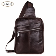 7217C New Arrival Free Shipping Mens Backpack Unisex Travel Bag Sling Shoulder Coffee Genuine Leather