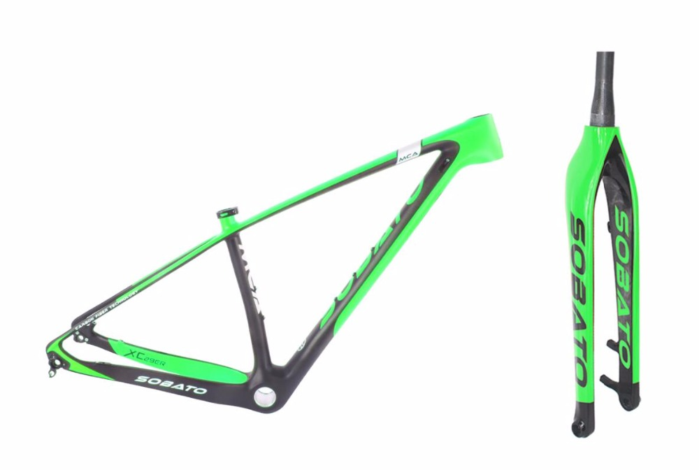 SOBATO hot sale 29er full carbon mountain bike frame mtb matte glossy 29 quick release/axle alternatively 15'/17''/18.5''/20'' mtb 26er carbon frame mountain bike frame kq mb921 size17 5inch 3k glossy matte finish factory outlets