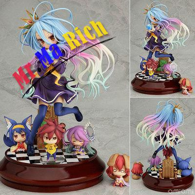 New Phat! Anime Life No Game No Life Shiro Game of Life Painted second generation Game of Life 1/7 scale PVC action figure model 20cm anime life no game no life shiro game of life painted second generation game of life 1 7 scale pvc action figure model