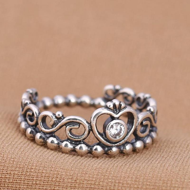 Small 925 Sterling Silver Ring Crown Ring
