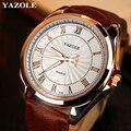 Fashion Luxury Brand Watches Men Watch Famous Roman Number Male Luminous Cheap PU Leather Clock Sports Wrist Watch Quartz-Watch