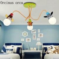 Творческий мультфильм детская комната спальня потолочный светильник Для мальчиков и девочек детской комнате лампа глаз Уход ясли лампа до