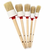 SPTA Boar Hair Brush Auto Detailing Brushes For Car Cleaning Wheels Dashboard Interior Exterior Leather Air