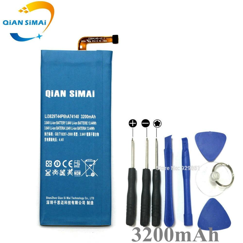 QiAN SiMAi Li3829T44P6hA74140 batería de 3200mAh y herramientas de reparación para ZTE Nubia Z7 Z9 NX508J NX510J NX511J Z9 Max Plus Z9 mini teléfono