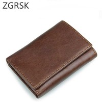 Korean Genuine Leather Wallet Male Smart Wallet Rfid Card Holder Slim Wallet Secrid Small Magic Wallet Thin Men Purse Walet