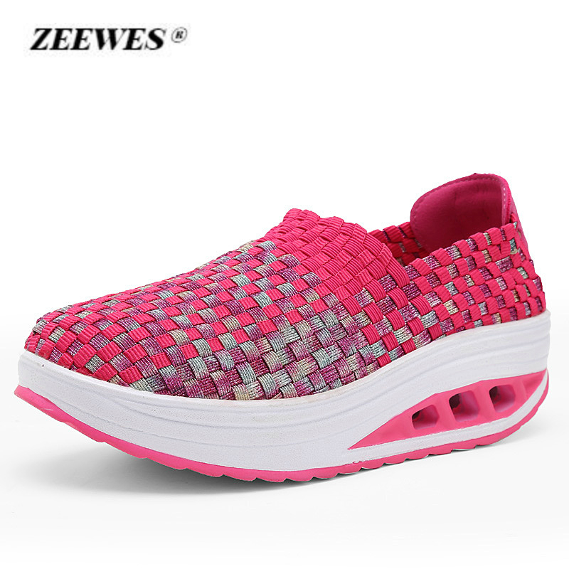 2018 new summer casual shoes woman Platform sneakers breathable mesh slope with high shoes fashion women shoes Zapatos de mujer