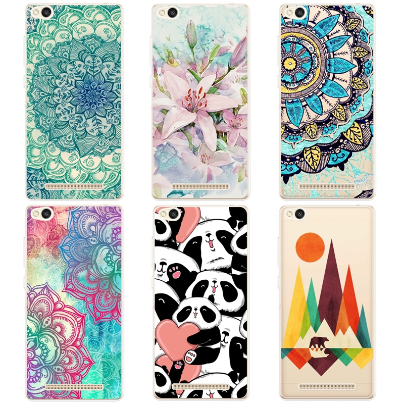 TPU Soft Cases For Xiaomi Redmi Colorful Printing Drawing Transparent Ultra Thin