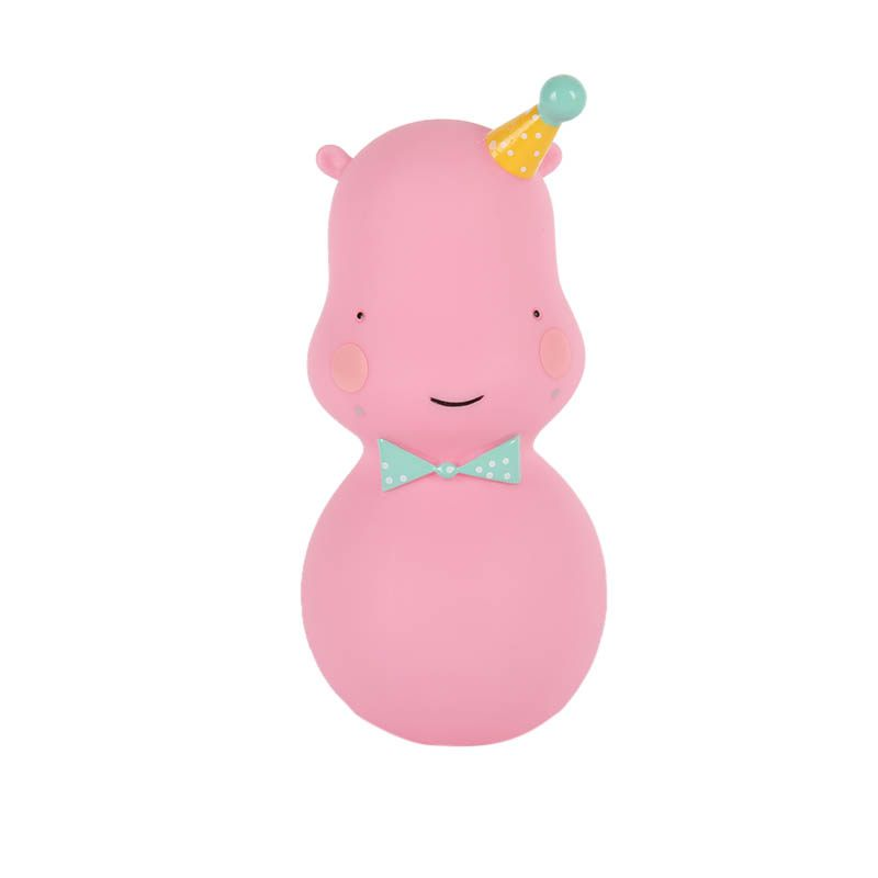 Cute Hippo LED Emergency Light Night Light Interior Bedside Lamp Decoration White Pink Green Lamp Kids