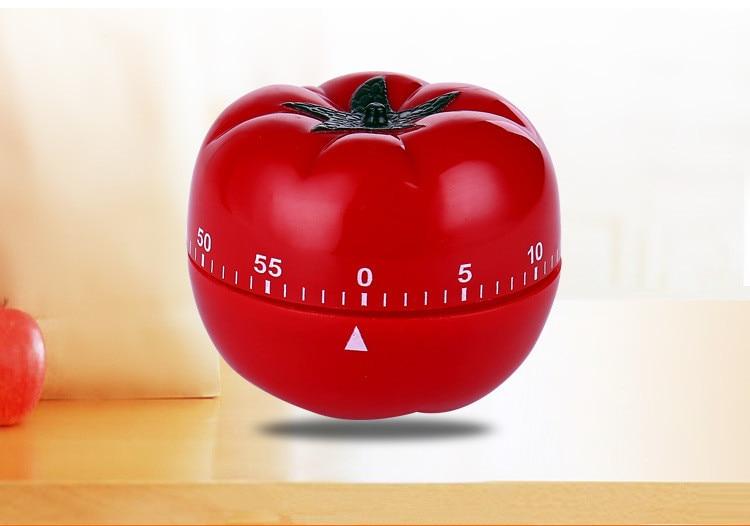 1PC New 1-60min 360 Degree Tomato Timer Creative Kitchen Mechanical Timer Countdown Timer Reminder Alarm OK 0593