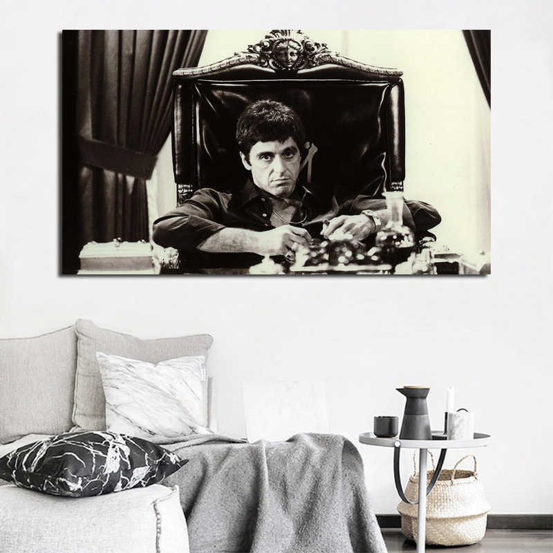Tony Montana Movie Lens Wallpaper Canvas Painting Print Bedroom Home Decor  Modern Wall Art Oil Painting Poster Pictures Artwork